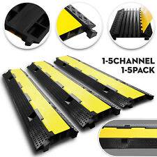 1/2/5 Channel Cable Protector Ramp Rubber Electrical Wire Cable Cover Ramp Guard