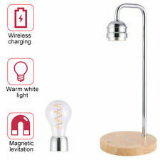 Magnetic Levitating Light Bulb Desk Warm White Lamp With Qi Wireless Charging D