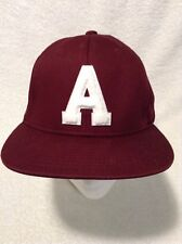 5d2d1a4b543 Aeropostale Baseball Hat Cap Adjustable Snapback Maroon Embroidered 100%  Cotton