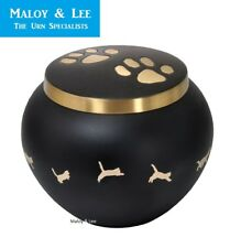 Jumping Playful Cat Paws Large Full Sized Cremation Memorial Ashes Brass Pet Urn