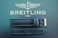 BREITLING CHRONOMAT UTC 20-18 BLUE SMOOTH CALF BUCKLE WATCH BAND WATCHBAND STRAP