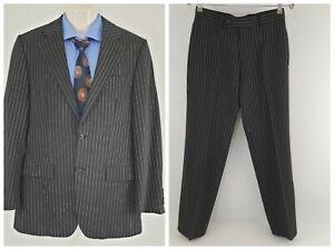 Hugo Boss Gable/Vegas Mens 2 Pieces Suit Pinstripe Stretch Sz EU 44 AU 34 SU29