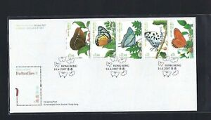 China Hong Kong 2007 FDC Butterfly stamp