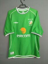Republic Of Ireland Jersey 2001 2003 Home L Shirt Mens Green Football Umbro ig93