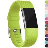 For Fitbit Charge 2 Replacement Diamond Wristband Wrist Strap Smart Watch Band