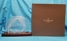 Waterford Crystal Nativity Collection Creche Backdrop Display Stand Bethlehem NR