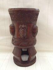 Antique Luba Carved Wood Medicine Cup Tribal Art Baluba Africa Congo