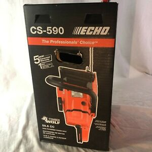 Echo CS-590 Gas Powered Chainsaw 20 in. 59.8cc 2-Stroke Engine Professional Grad