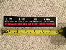 LIB TECH Innovations Even We Don't Understand Vintage Sticker - Lib Technologies