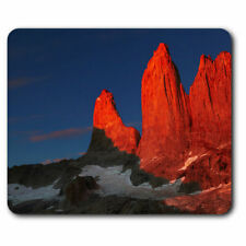 Computer Mouse Mat - Towers Patagonia Sunrise Chile Office Gift #13037