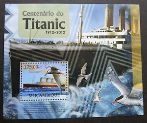 Mozambique Titanic 2012 Movie Sinking Ship Boat Transport Bird (ms) MNH