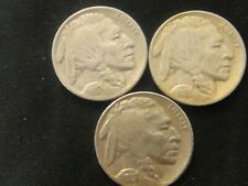1926 P - 1927 P - 1928 P FULL DATE ORIG. CIRC BUFFALO NICKEL ALL 3 COINS 1 PRICE