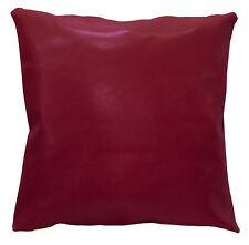 pe240a Light Fuschia Faux Leather Classic Pattern Cushion Cover/Pillow Case