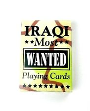"""NEW Sealed Collectable Hoyle/Bicycle Brand """"Iraqi Most Wanted"""" Playing Cards USA"""