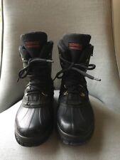 SOREL KAUFMAN BLACK SIDE ZIP TIE MADE IN CANADA SZ 7 GREAT SOLES URBAN LOOK