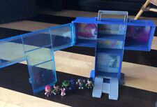 Teen Titans Go! T Tower Carry Case - Home Base Blue Playhouse With Figures