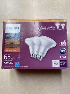 3 PACK Philips BR30 E26 (Medium) LED Floodlight Bulb Soft White 65 Watt Equiv.