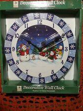 "Christmas Decorative Wall Clock 9"" snowman/ kids/ family"