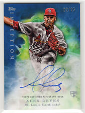 # /25 RC Auto  ** Alex Reyes **  2017 Topps Inception BLUE   Cardinals