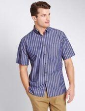 Camicie classiche da uomo manica corti cotone a righe