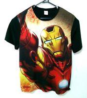 Marvel Avengers Mens Iron Man T-Shirt Size M Full Print Licensed Short Sleeve