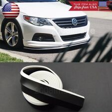 "1.3"" Black + White Trim EZ Fit Bumper Lip Splitter Chin Splitter For Honda Acura"