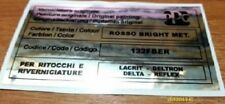 Fiat punto gt adesivo colore ppg rosso rosso bright met. 132fber