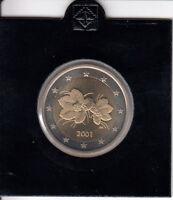 Finnland 2 Euro 2001 Kursmünze spiegelglanz/PP aus KMS - in Münzrähmchen