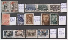 Russia 1945   14 stamps, MLH OG, 2 scans