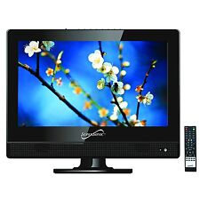 """Supersonic 13.3"""" HD LED LCD TV HDTV Television USB Player 12 Volt Car Cord HDMI"""