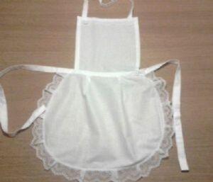 Full white 50.s style apron waitress Victorian Edwardian vintage Maid