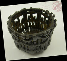 Artist Brown Woven One Apple Basket 2016 Arts + Crafts pottery Signed breakfast