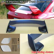 STi Style Rear Trunk Spoiler Wing (ABS) Fits 08-14 Subaru STi WRX 4dr Sedan