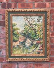 Gorgeous Impressionist Landscape Oil Painting By Maude Drein Bryant. Signed 1930