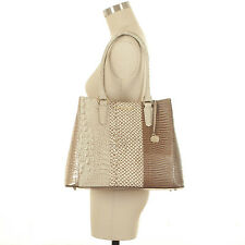 Brahmin Joan Tote Latte Buena Vista Snake Skin Leather Gold Brown metallic L Nwt
