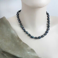 Natural Black Baroque Freshwater Pearl, Great Gatsby Pearl Necklace- 45 cm