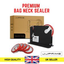 Metal Plastic Bag Neck Celotape Sealer Machine Tape Dispenser FREE 6 Rolls-Black