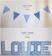 Bunting, Fabric Letters, Padded, Wall Art Handmade, Nursery, name, personalised