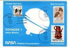 1980 Voyager 1 Saturn Mission NASA Philatelic Documentation Closest Approach SAT
