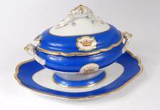 Saucière porcelaine Paris Gille Jeune couronne monogramme Napoléon III XIXè
