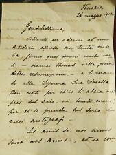 1912 63) RARA LETTERA AUTOGRAFA PEDAGOGISTA VENEZIANA MARIA PEZZE' PASCOLATO