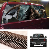 "22 X 65"" Grim Reaper Cemetery Truck Jeep Rear Window Graphic Decal Vinyl Sticker"