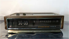 Vintage 70's, Sony Digimatic FM / AM Digital Flip Clock Radio, Model ICF-C511W