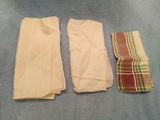 3 OLD Vtg Men's Hankerchiefs