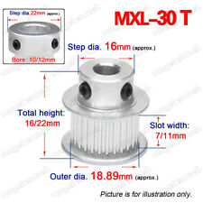 Mxl30t Timing Belt Pulley 56635781012mm Bore 225 Pitch For 3d Printer
