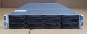 Supermicro SuperServer 6027TR-HTQRF 4x Node 8x E5-2670v2 256GB Ram Rack Server