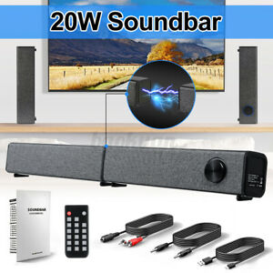 20W bluetooth 5.0 Soundbar Detchable Speaker Stereo Home Theater Hands-free Call