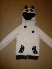 Supersoft Sublevel Fleece Jacket/Hoodie/Hooded Top Zip Fastening Panda White S