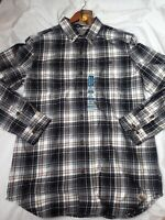 Carhartt Trumbull Plaid Shirt Flannel Relaxed Fit Carbon Heather LS Size M NWT