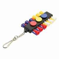 Golf Tee Holder Carrier 12 Plastic Tees With 3 Ball Markers Keychain FAST SHIP